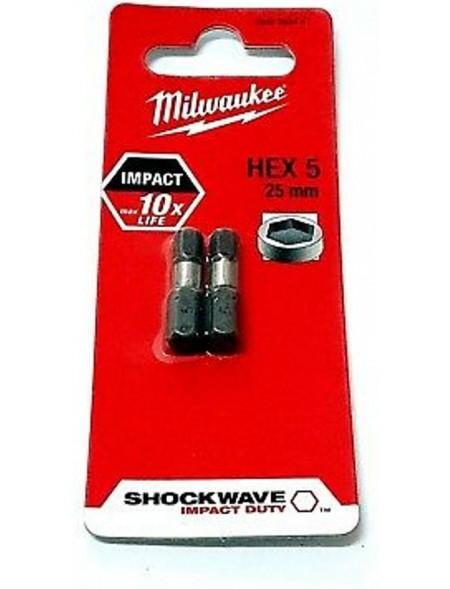 BIT SHOCKWAVE MILWAUKEE HEX 5x25mm (2szt.)