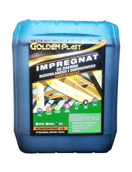 IMPREGNAT DO DREWNA GOLDEN PLAST ZIELONY 5L