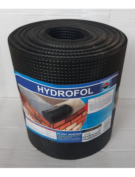 FOLIA FUNDAMENTOWA IZOLACYJNA POZIOMA PLAST MASTER HYDROFOL 0,365x50m (18,25m2)